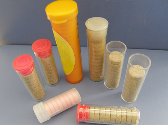 Effervescent Tablet Counting and Filling into Tube