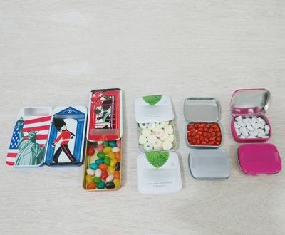 Mints Counting And Filling In Tin Box